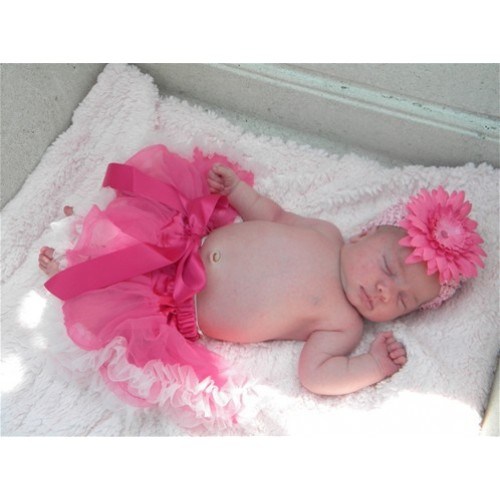 Bright Light Pink New Born Pettiskirt N04