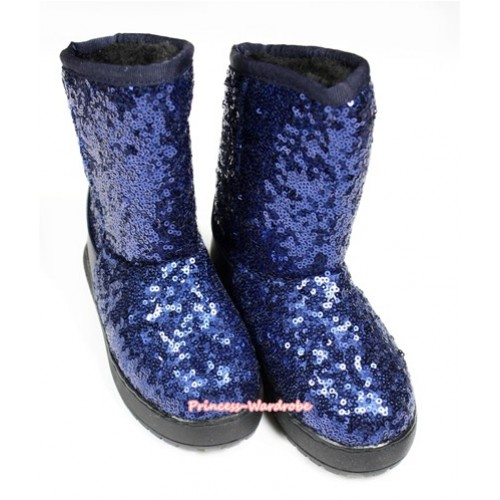 Royal Blue Sparkle Sequins Posh Children Boots B-6 Royal Blue