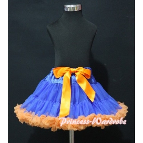 Royal Blue Orange Pettiskirt P90