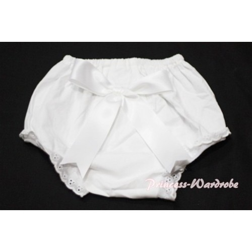 White Bloomers & Pure White Big Bow BC103
