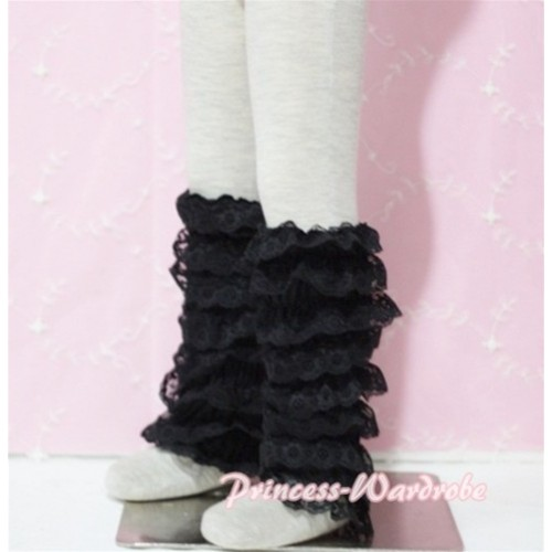 Baby Black Lace Leg Warmers Leggings LG68