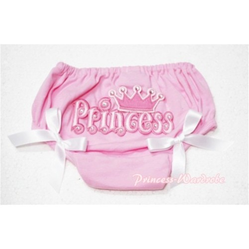 Pink Bloomers & Princess Logo & White Bow BC54