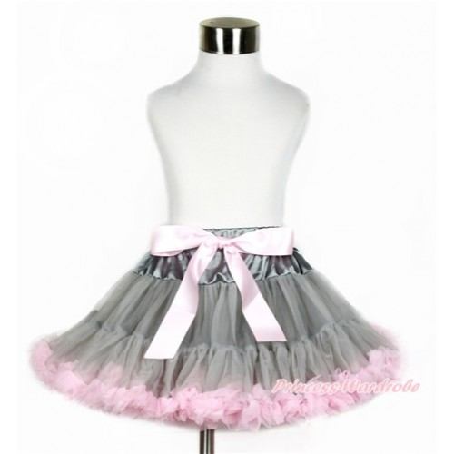 Grey Light Pink Pettiskirt P176
