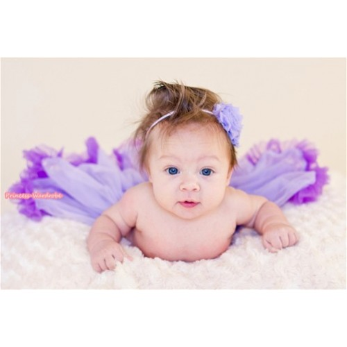 Lavender Dark Purple Mix New Born Pettiskirt N093