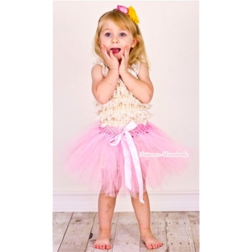 Light Pink Ballet Tutu with Light Pink Bow B135