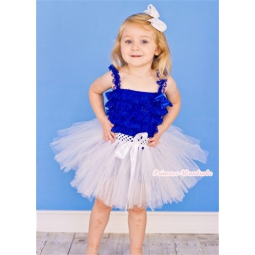 Pure White Ballet Tutu with White Bow B138