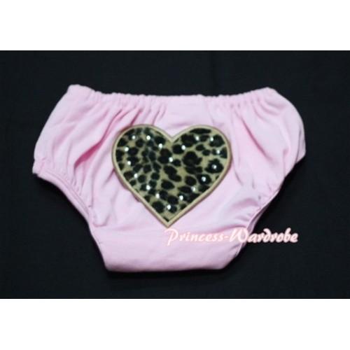 Light Pink Bloomers & Leopard Print Heart LD21