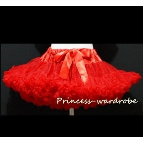 Red Adult Full Pettiskirt XXXL AP49