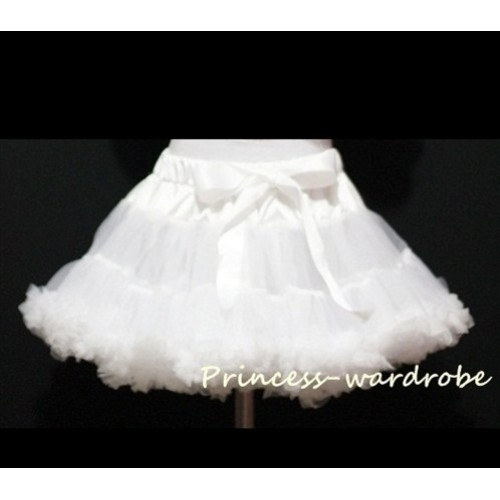 White Adult Full Pettiskirt XXXL AP50