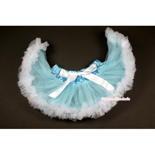Light Blue White Newborn Pettiskirt N102