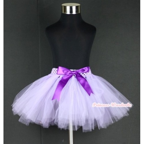 Light Purple Ballet Tutu with Dark Purple Bow B141
