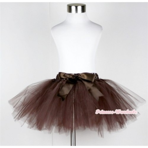 Brown Ballet Tutu with Bow B143