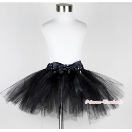 Black Ballet Tutu with Bow B144
