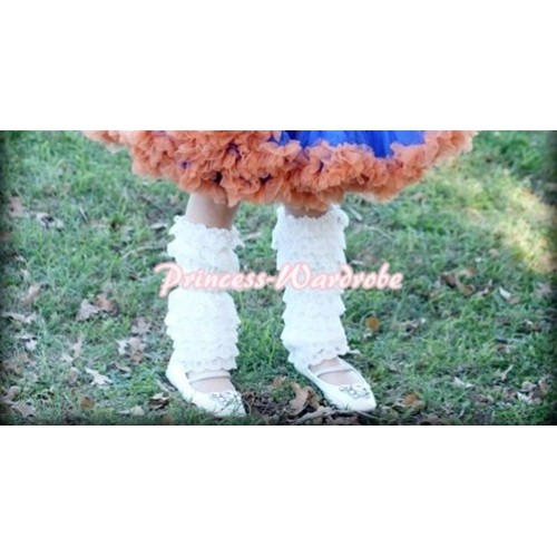 Baby Cream White Lace Leg Warmers Leggings LG75