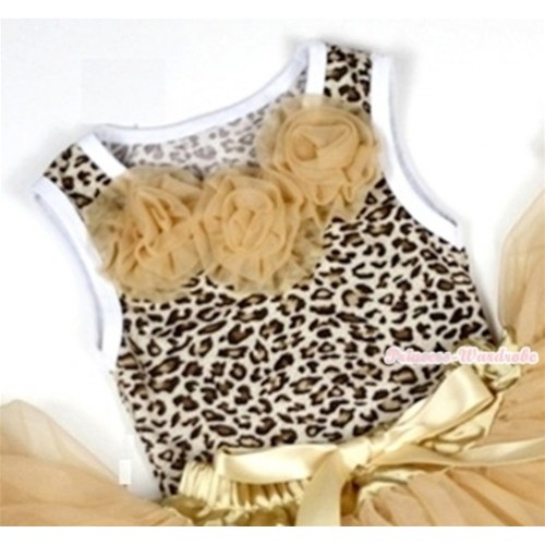 Leopard Baby Pettitop with Goldenrod Rosettes NT154