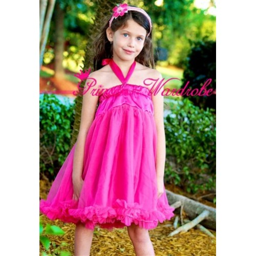 Hot Pink Chiffon Pettidress P84