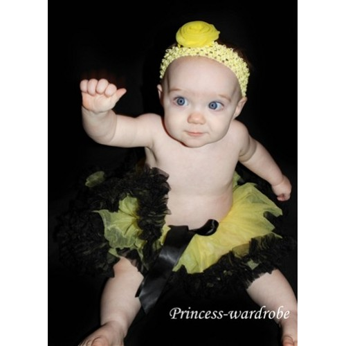 Yellow & Black New Born Pettiskirt N19