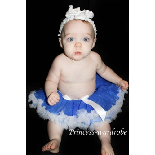 Royal Blue and White New Born Pettiskirt N21