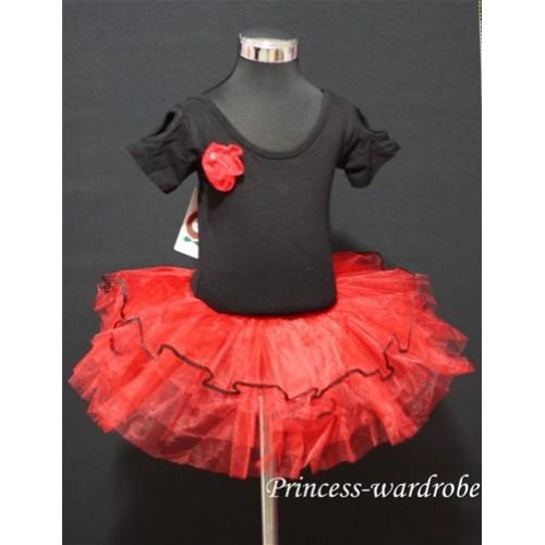 Black Red Ballet Tutu B55