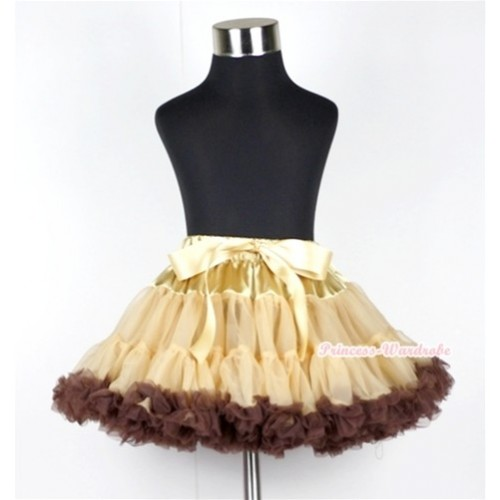 Light Dark Brown Teen Full Pettiskirt XXL AP56