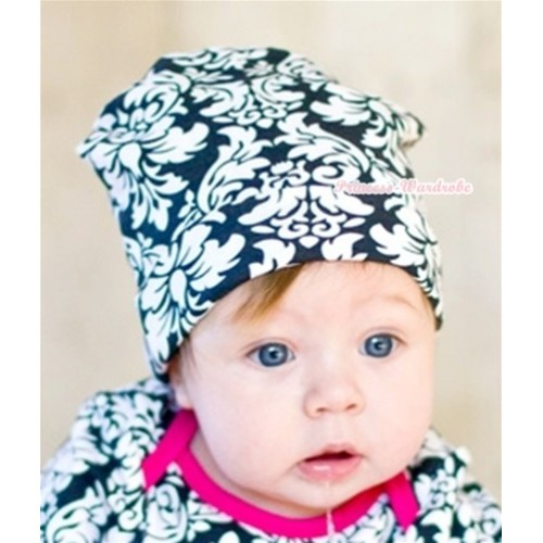 Baby Jumpsuit Cap with Damask Print TH211