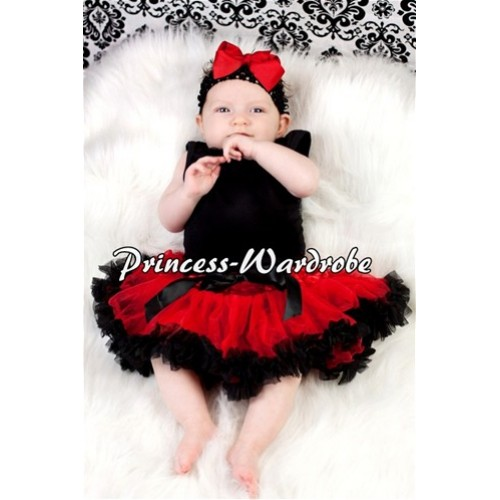 Red Black New Born Pettiskirt  N54