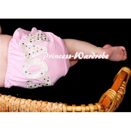 Sweet Spakle LOVE Print Light Pink Panties Bloomers LD77