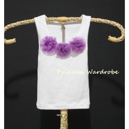 White Baby Pettitop with Dark Purple Rosettes NT02