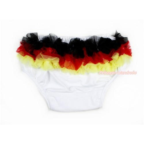 Germany Black Red Yellow Ruffles World Cup Panties Bloomers B072