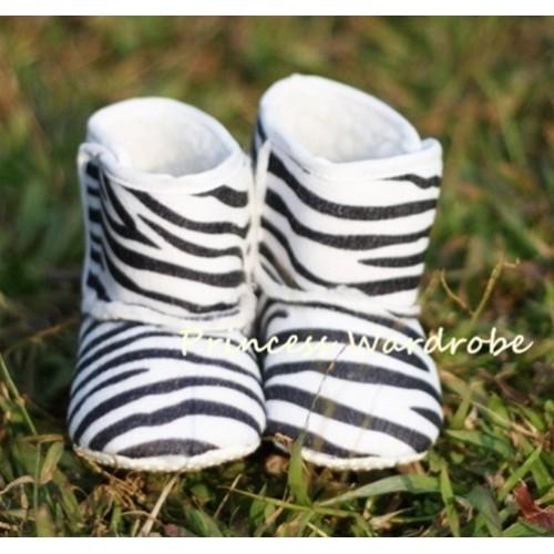 Zebra Print Baby Crib Boots SB01