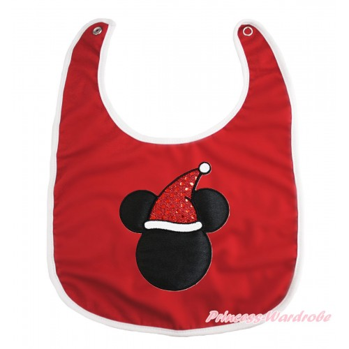 Xmas Hot Red Baby Bib & Christmas Minnie Print BI20