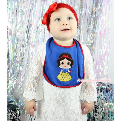 Royal Blue Baby Bib & Princess Snow White Print BI22