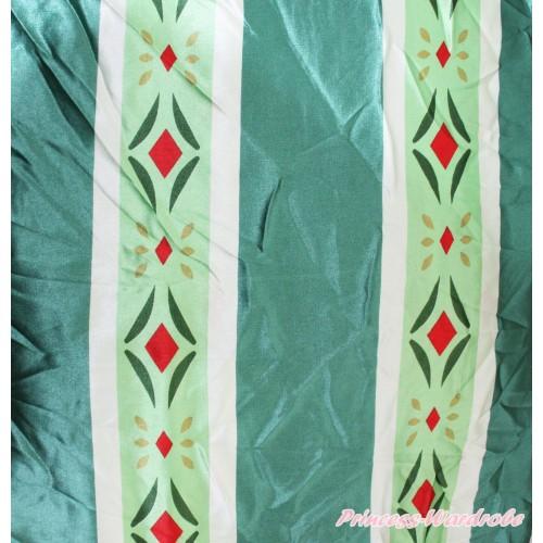 Frozen 1 Yard Princess Anna Coronation Gown Print Satin Fabrics HG125