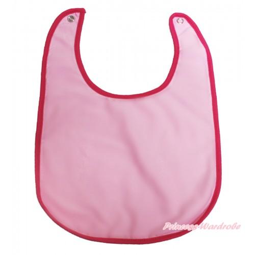 Plain Style Light Pink Newborn Baby Bib BI03