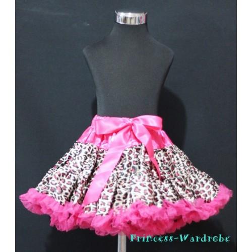 Hot Pink Leopard Adult Pettiskirt XXXL AP104