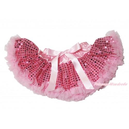 Light Pink Sparkle Bling Sequins Newborn Pettiskirt N240