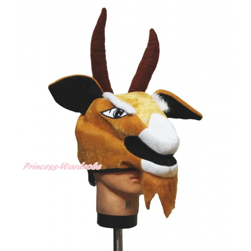 Brown Goat Costume Party Warm Hat H978