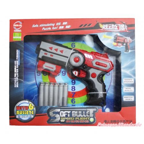 Red Grey Dart Soft Bullet Target Gun Toy TY015