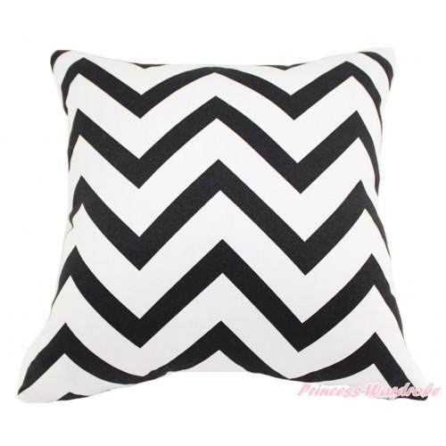 Black White Chevron Home Sofa Cushion Cover HG130