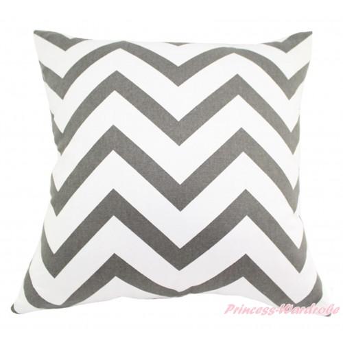Grey White Chevron Home Sofa Cushion Cover HG131