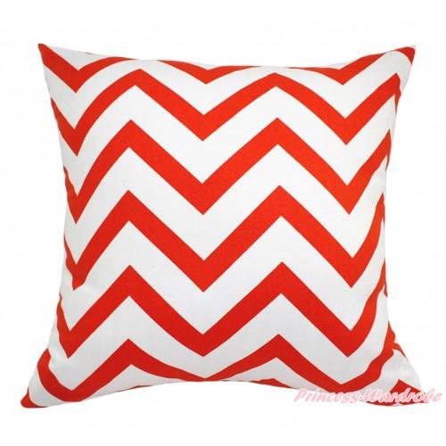 Orange White Chevron Home Sofa Cushion Cover HG132