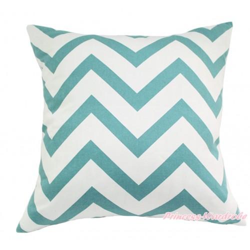 Aqua Blue White Chevron Home Sofa Cushion Cover HG133