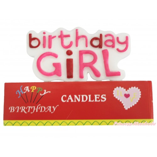 Pink Birthday Girl Party Decoration Candles HG134