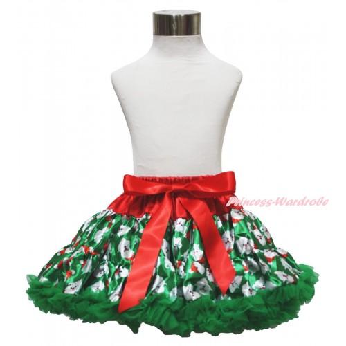 Christmas Kelly Green Santa Claus Full Pettiskirt P233
