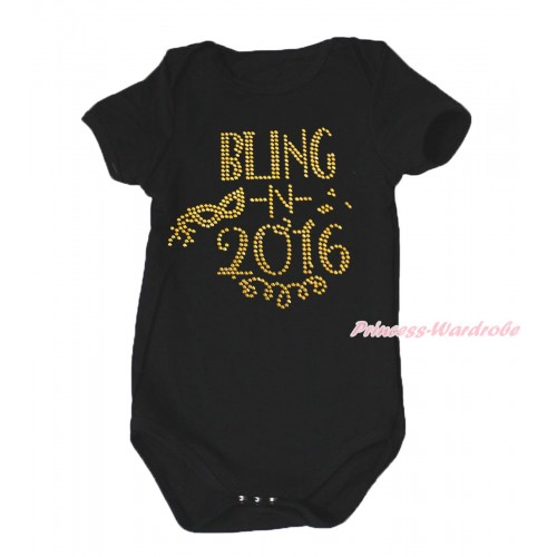 Black Baby Jumpsuit & Sparkle Rhinestone Bling In 2016 Print TH645