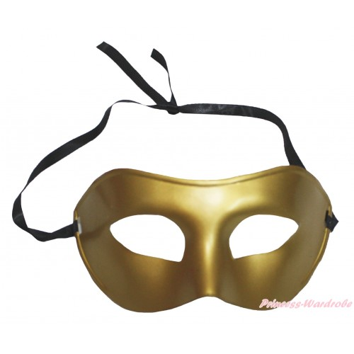 Mardi Gras Gold Halloween Costume Face Eyes Mask C434
