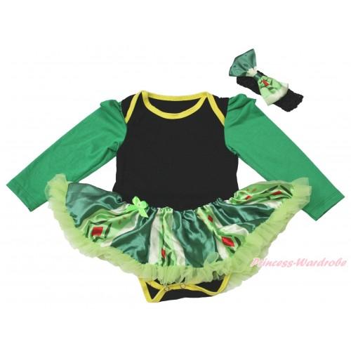 Black Long Sleeve Baby Bodysuit Anna Green Coronation Pettiskirt JS4433