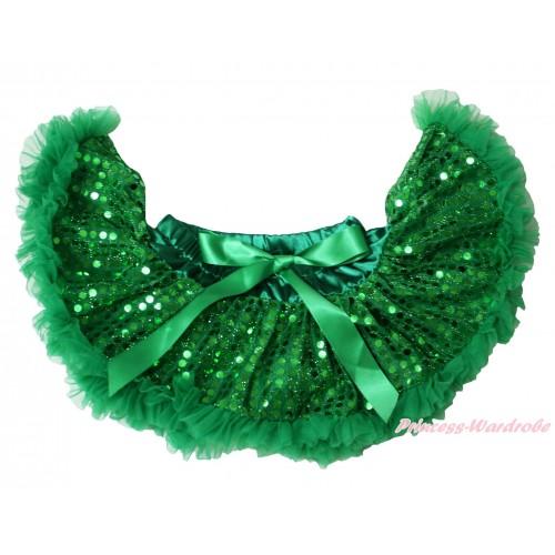 Kelly Green Sparkle Bling Sequins Newborn Pettiskirt N248