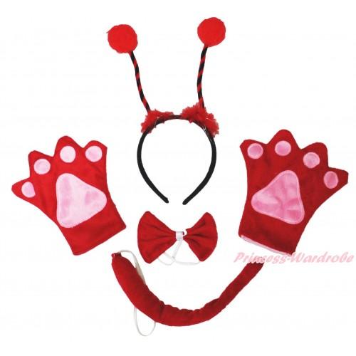 Beetle 4 Piece Set in Headband, Tie, Tail , Paw PC085
