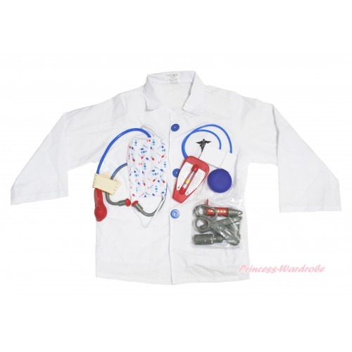 Doctor White Long Sleeve Costume 6PC Set C403